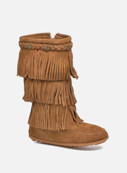 Stivali Minnetonka 3-Layer Fringe Boot E Marrone vedi dettaglio/paio