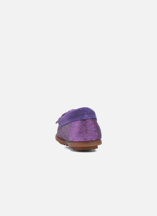 Mocassins Minnetonka Glitter Moc Violet vue droite