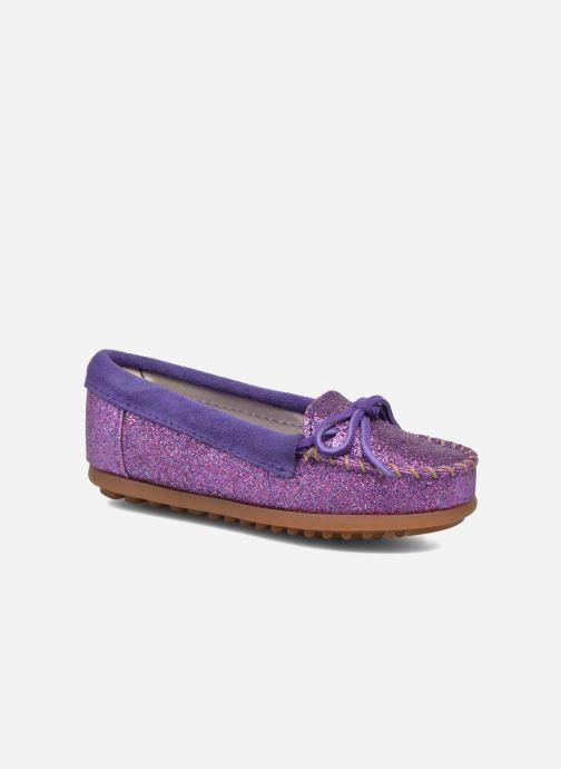 Mocassins Minnetonka Glitter Moc Violet vue détail/paire
