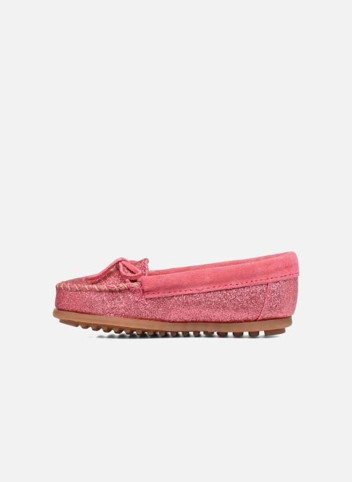 Loafers Minnetonka Glitter Moc Rosa bild från framsidan