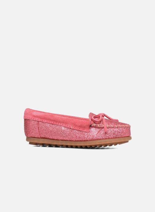 Loafers Minnetonka Glitter Moc Rosa bild från baksidan