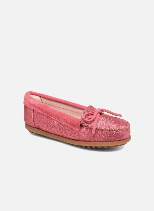 Loafers Minnetonka Glitter Moc Rosa detaljerad bild på paret