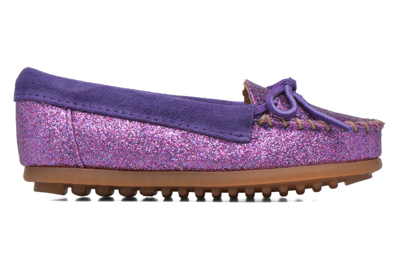 Mocassins Minnetonka Glitter Moc Violet vue derrière