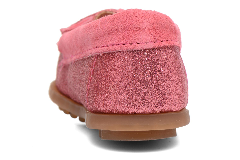 Slipper Minnetonka Glitter Moc rosa ansicht von rechts
