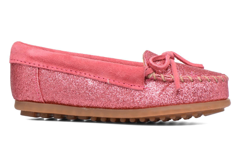 Slipper Minnetonka Glitter Moc rosa ansicht von hinten