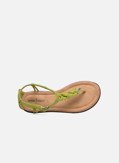 Sandales et nu-pieds Minnetonka Carnival Thong Vert vue gauche