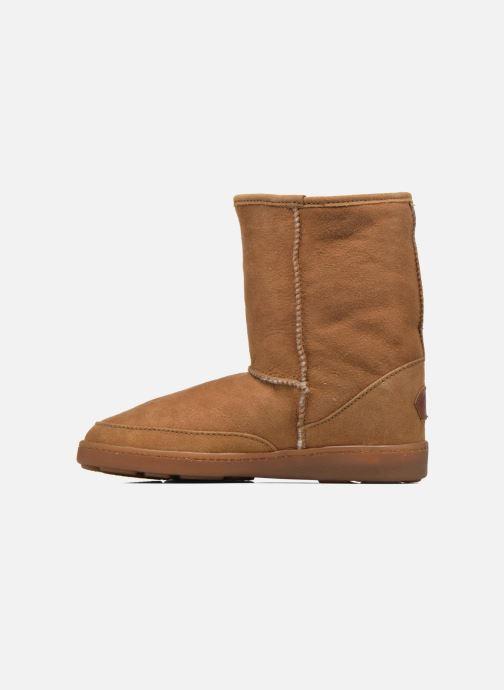 Bottines et boots Minnetonka Short Sheepskin Pug Boot W Marron vue face