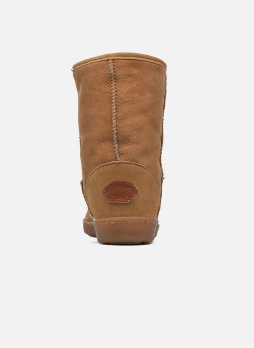 Bottines et boots Minnetonka Short Sheepskin Pug Boot W Marron vue droite