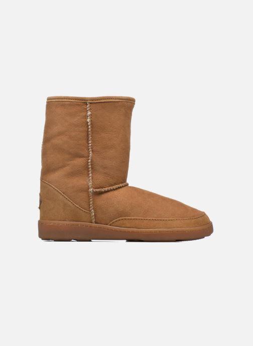 Bottines et boots Minnetonka Short Sheepskin Pug Boot W Marron vue derrière