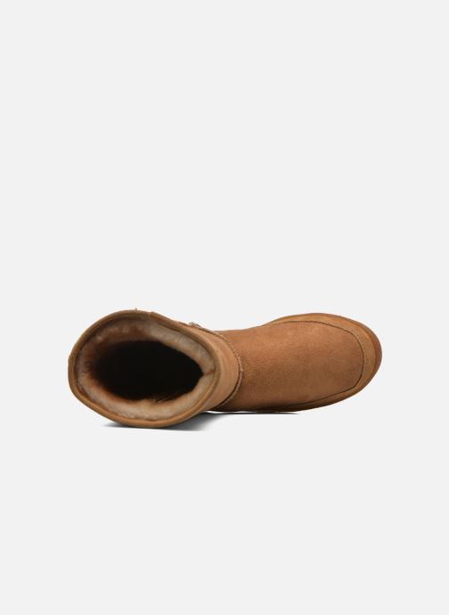 Bottines et boots Minnetonka Short Sheepskin Pug Boot W Marron vue gauche