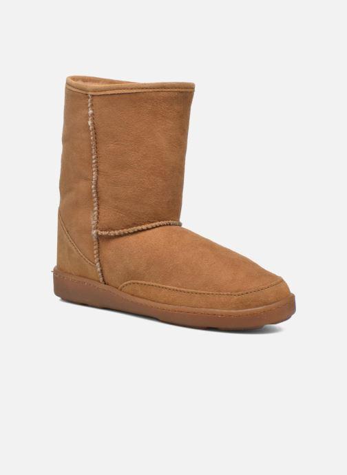 Bottines et boots Minnetonka Short Sheepskin Pug Boot W Marron vue détail/paire