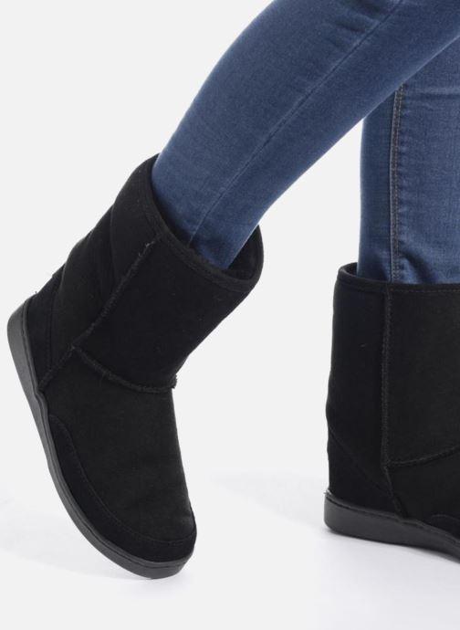 Minnetonka Short Sheepskin Pug Stiefel W (grau) - Stiefeletten & & & Stiefel bei Más cómodo 977a1f