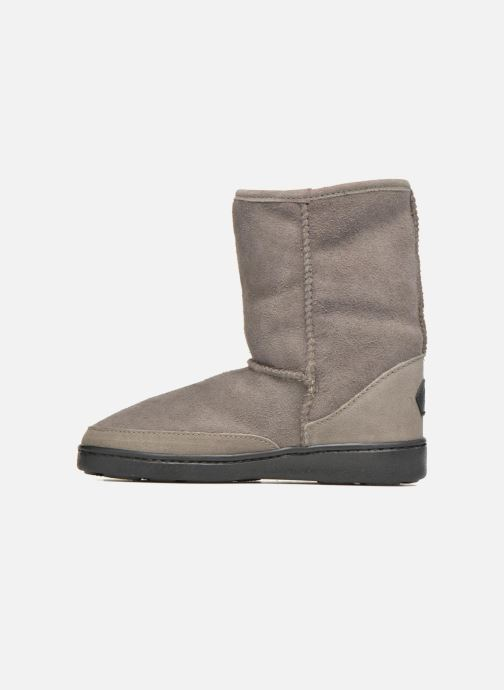Bottines et boots Minnetonka Short Sheepskin Pug Boot W Gris vue face