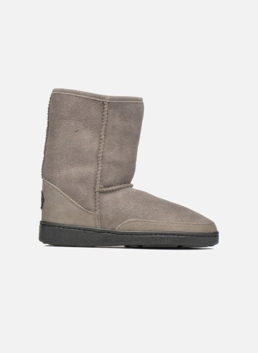 Bottines et boots Minnetonka Short Sheepskin Pug Boot W Gris vue derrière