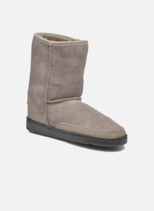 Bottines et boots Minnetonka Short Sheepskin Pug Boot W Gris vue détail/paire