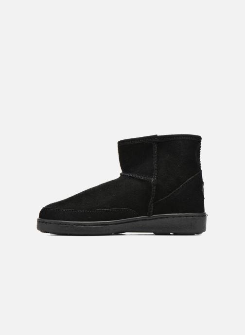 Botines  Minnetonka Ankle-Hi Sheepskin Pug Boot Negro vista de frente