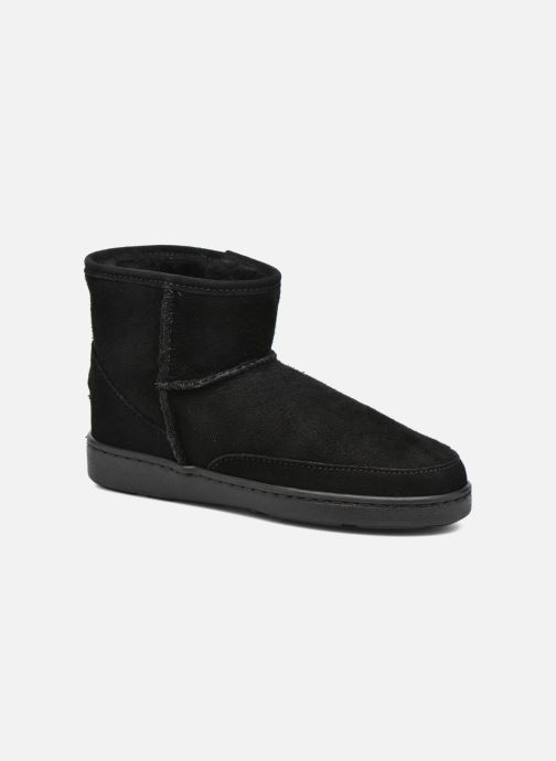 Botines  Minnetonka Ankle-Hi Sheepskin Pug Boot Negro vista de detalle / par