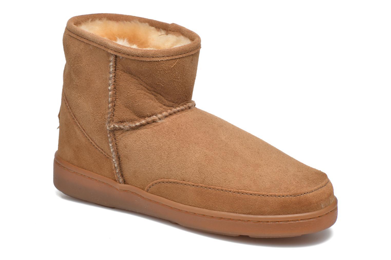 Nuevo Botines zapatos Minnetonka Ankle-Hi Sheepskin Pug Boot (Marrón) - Botines Nuevo  en Más cómodo eb5eab