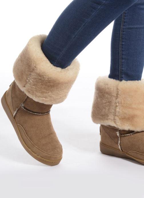 Minnetonka Tall Sheepskin Pug Boot W (Marron) - Bottines et boots (289575)