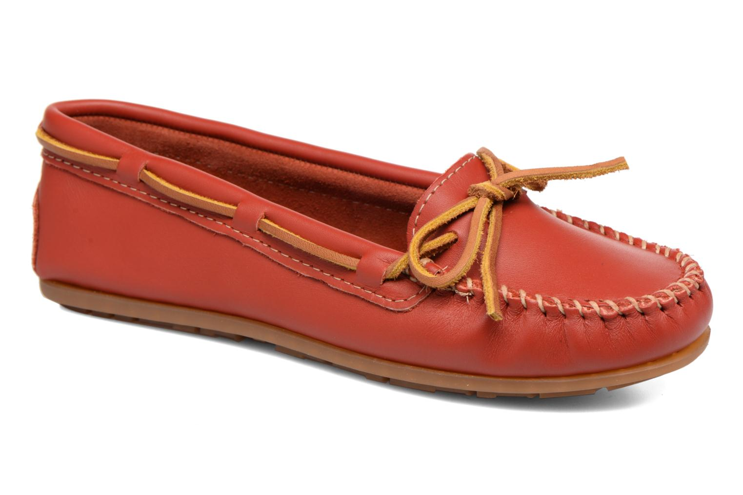 Minnetonka Leather Sarenza Chez rosso Smooth Mocassini 289586 Moc HHvqwTZxr