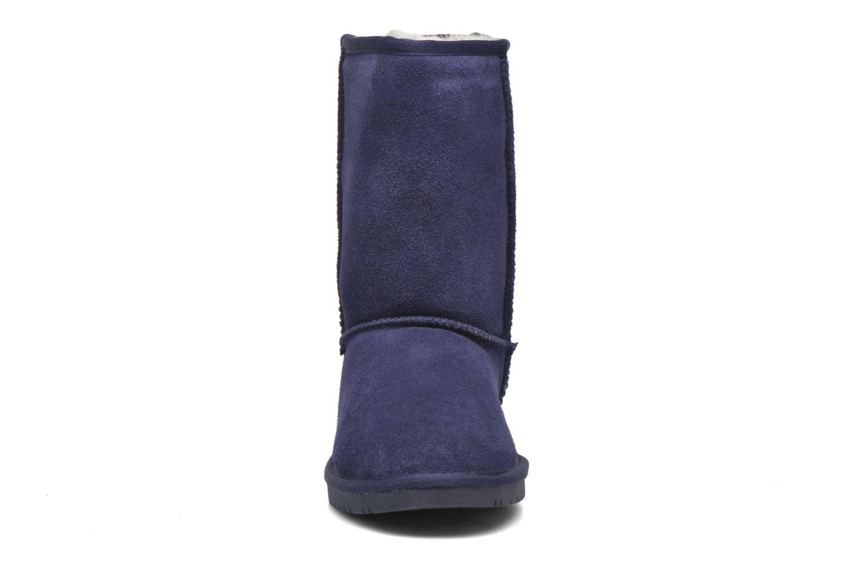 Stivaletti e tronchetti Minnetonka Olympia Boot Azzurro modello indossato