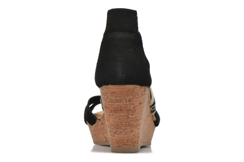 Sandali e scarpe aperte Minnetonka Drew Wedge Nero immagine destra