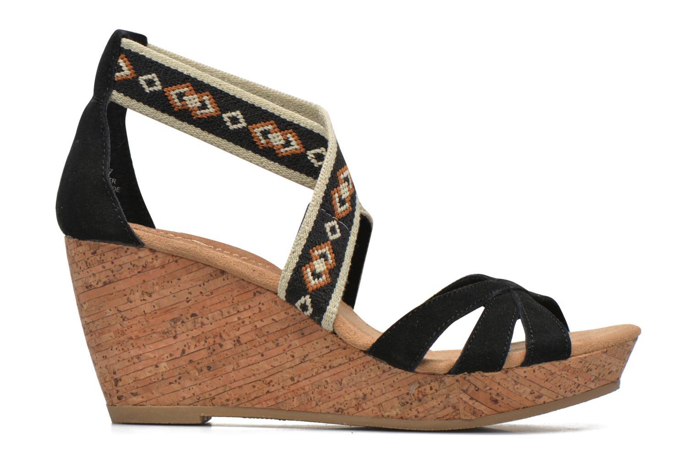 Sandali e scarpe aperte Minnetonka Drew Wedge Nero immagine posteriore