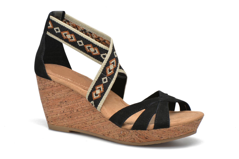 Sandali e scarpe aperte Minnetonka Drew Wedge Nero vedi dettaglio/paio