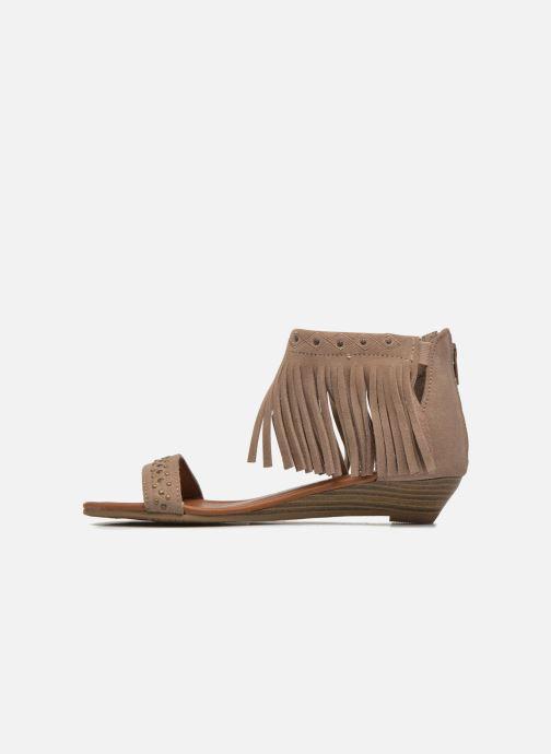 Sandales et nu-pieds Minnetonka Savona Low Wedge Beige vue face