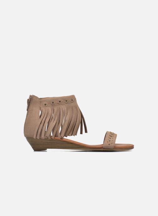 Sandales et nu-pieds Minnetonka Savona Low Wedge Beige vue derrière