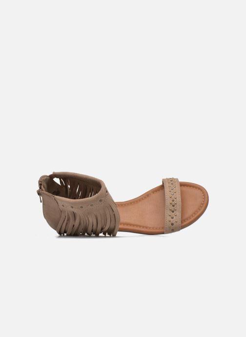 Sandales et nu-pieds Minnetonka Savona Low Wedge Beige vue gauche