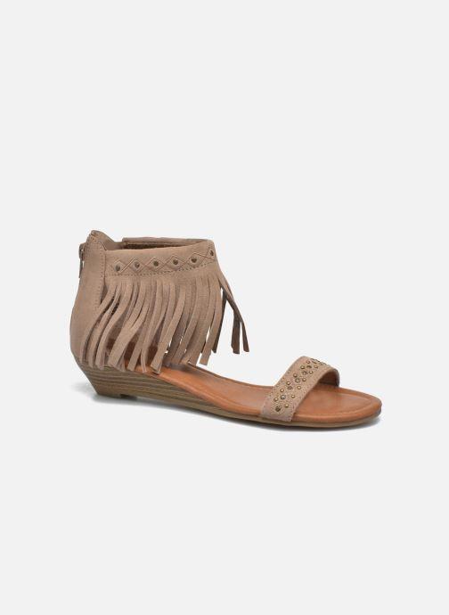 Sandales et nu-pieds Minnetonka Savona Low Wedge Beige vue détail/paire