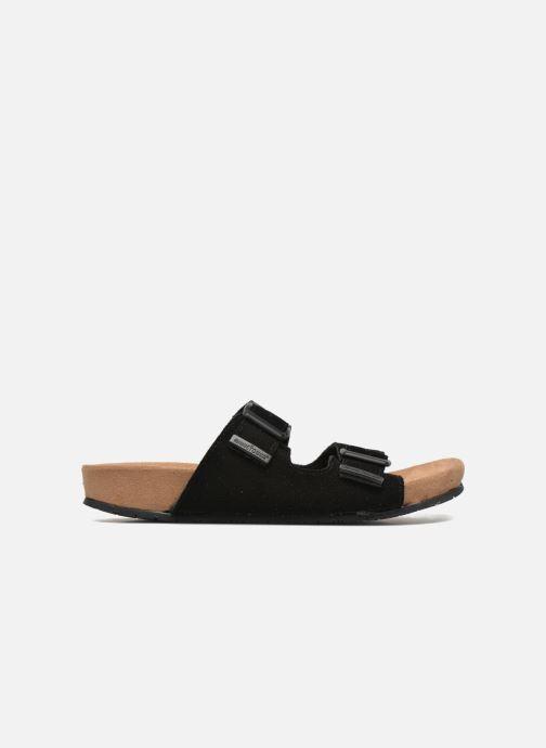 Wedges Minnetonka Gipsy Sandal Zwart achterkant
