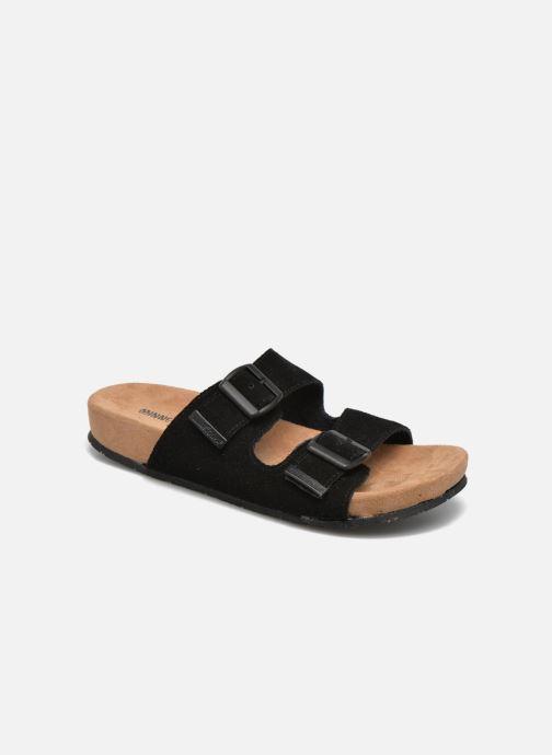 Wedges Minnetonka Gipsy Sandal Zwart detail