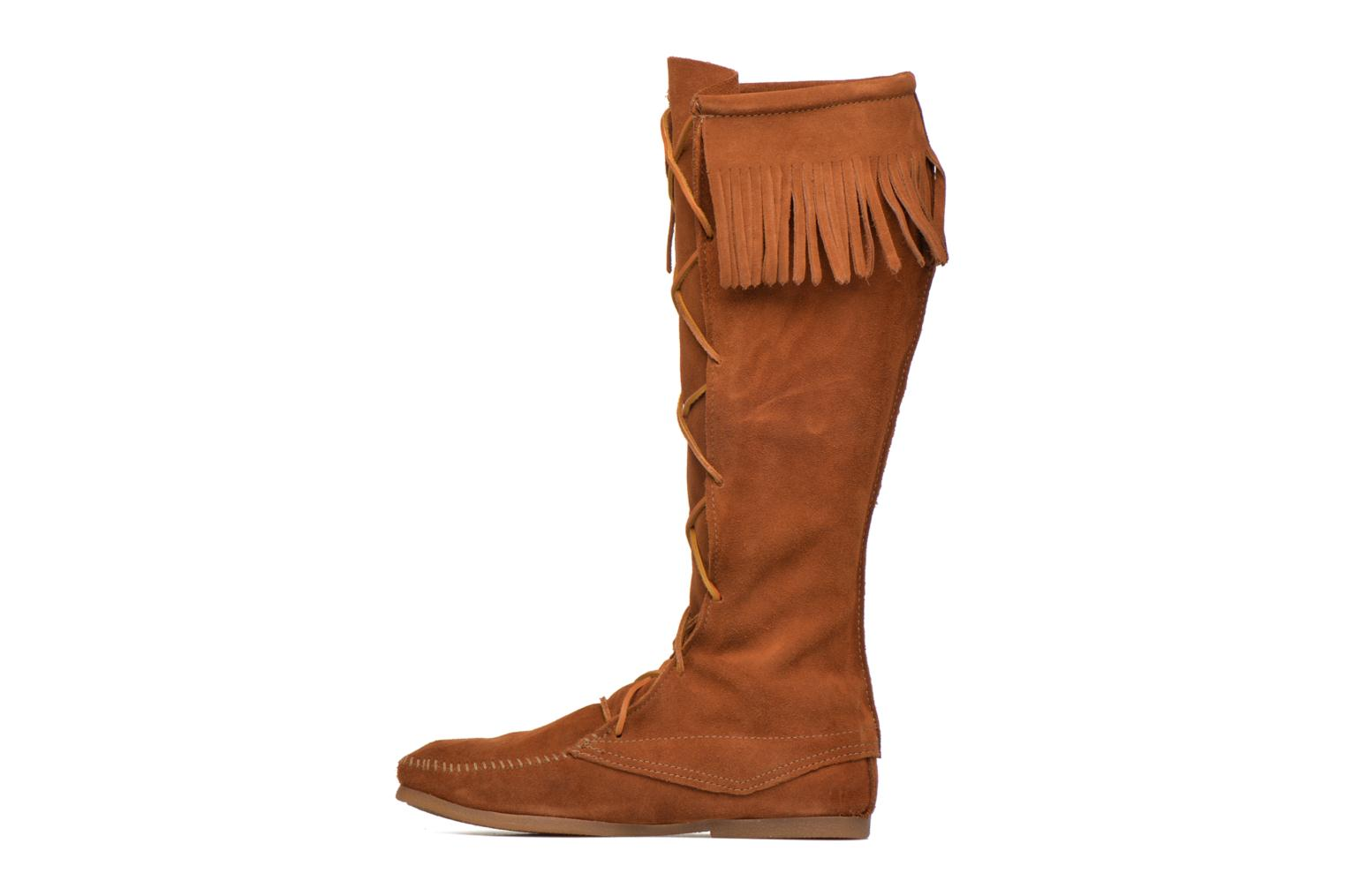 Bottes Minnetonka Front Lace Knee-Hi Boot Marron vue face