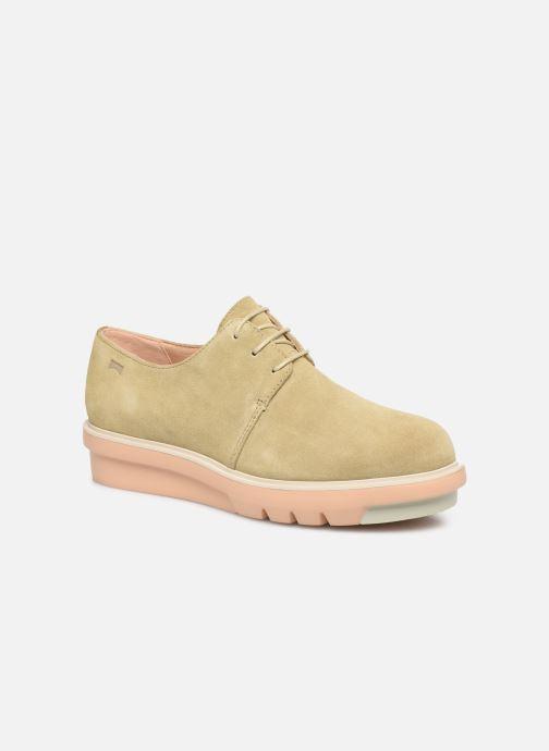 Zapatos con cordones Camper Marta K200114 Beige vista de detalle / par
