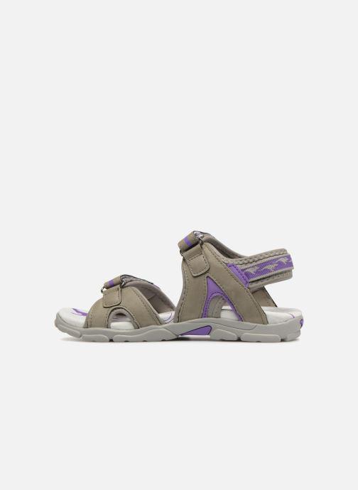 Sandals Kangaroos Corgi 2 Purple front view
