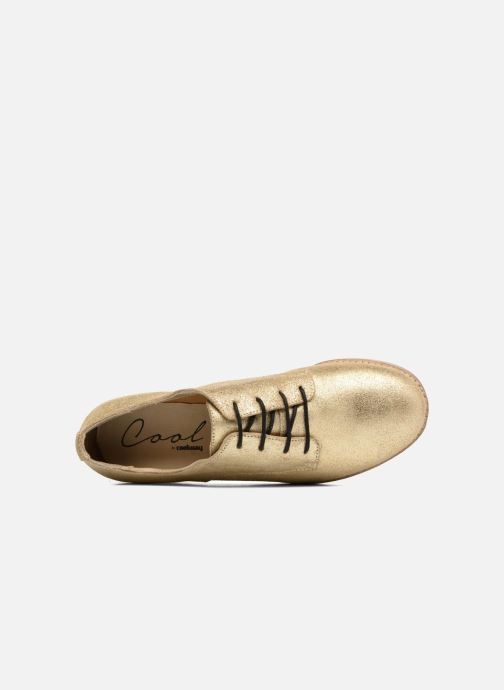 Lace-up shoes Coolway Avocado Bronze and Gold view from the left