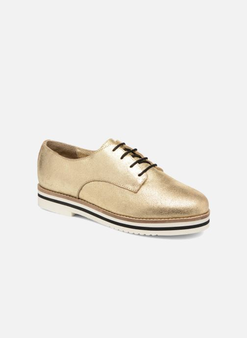 Snøresko Coolway Avocado Guld og bronze detaljeret billede af skoene