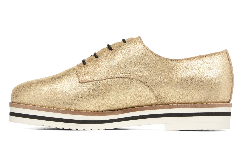 Zapatos con cordones Coolway Avocado Oro y bronce vista de frente