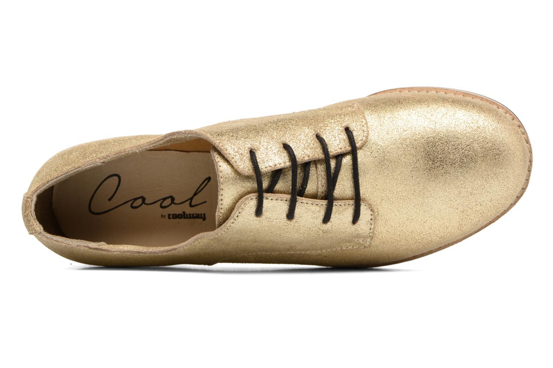Zapatos con cordones Coolway Avocado Oro y bronce vista lateral izquierda