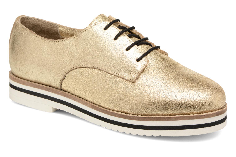 Zapatos con cordones Coolway Avocado Oro y bronce vista de detalle / par