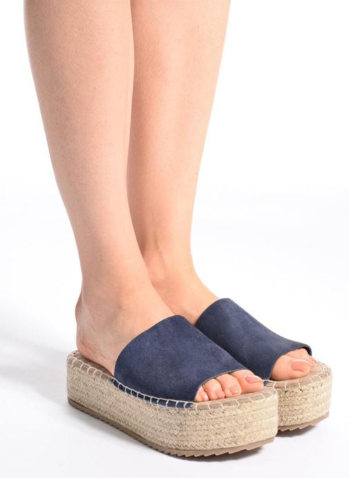 Espadrilles Coolway Bora Blue view from underneath / model view