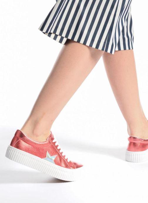 Baskets Coolway Cherry Bleu vue bas / vue portée sac