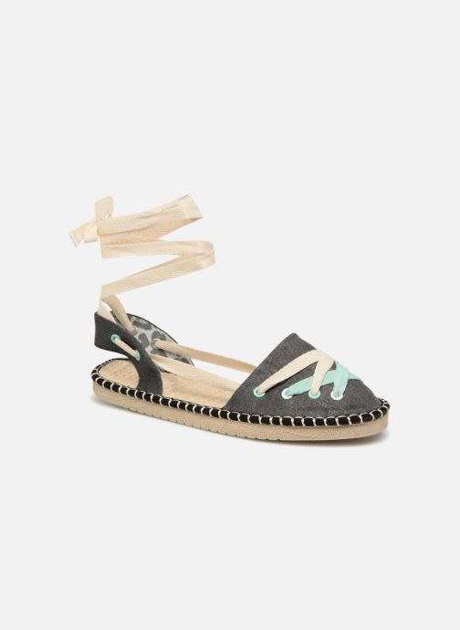 Espadrilles Coolway Guajira Black detailed view/ Pair view