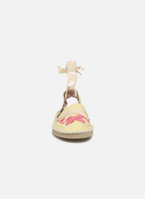 Espadrilles Coolway Guajira Jaune vue portées chaussures