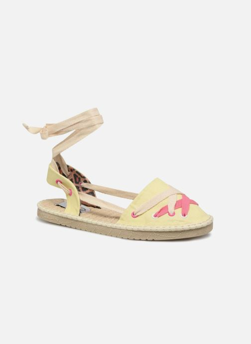 Espadrilles Coolway Guajira Yellow detailed view/ Pair view
