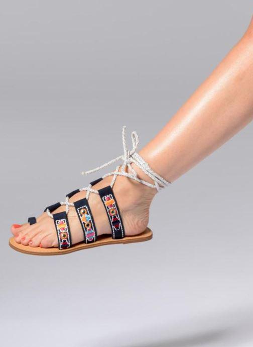 Sandales et nu-pieds Coolway Nassau Bleu vue bas / vue portée sac