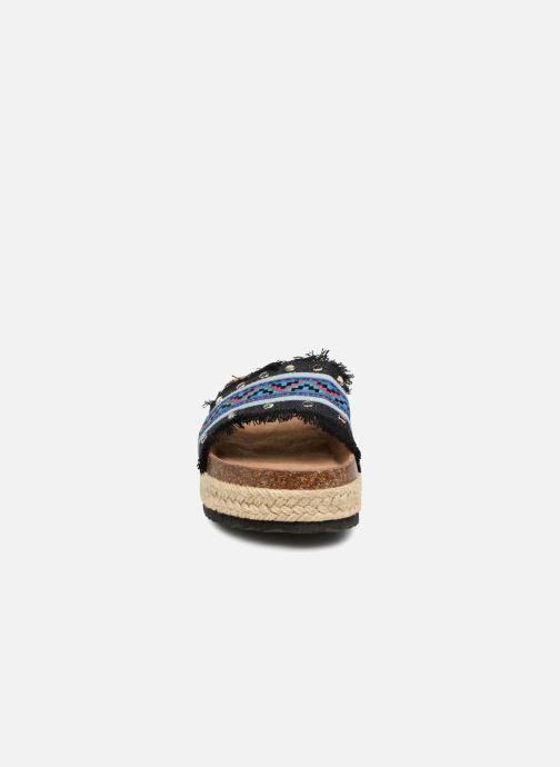 Mules et sabots Coolway Samba Bleu vue portées chaussures