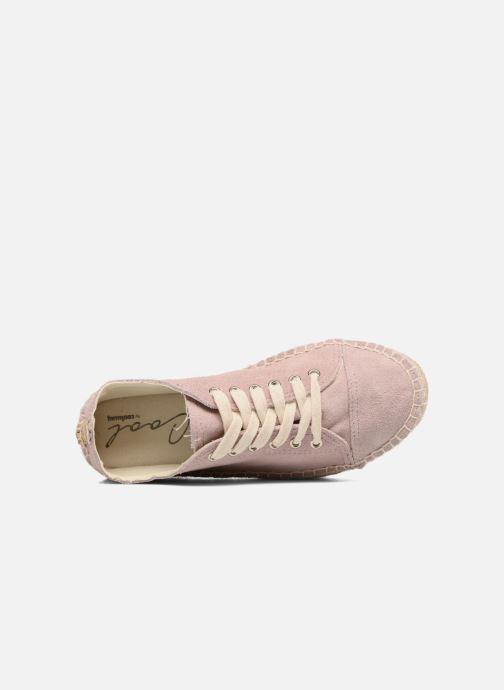 Zapatos con cordones Coolway Tango Rosa vista lateral izquierda